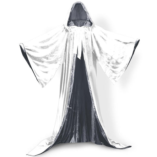 Halloween Cloak Velvet Adult Witch Vampire Cosplay Costumes Hooded Fancy Dress Party Robe