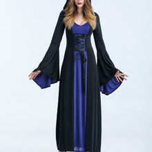 Load image into Gallery viewer, Women Vampire Witch Costumes Halloween Cosplay Masquerade Party Costume Gothic Adult Hoodie Witch Long Dress
