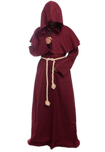 Cloak Hooded Cape Robe Medieval Renaissance Monk Costume Xmas Halloween Gothic Wicca Witchcraft Larp Vampire Fancy Dress