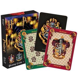 Harri Potter Poker Cards Hogwarts School of Witchcraft and Wizardry School Crest Set and Badges Symbols Castle Crests Collection