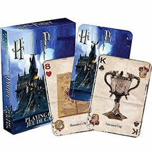 Load image into Gallery viewer, Harri Potter Poker Cards Hogwarts School of Witchcraft and Wizardry School Crest Set and Badges Symbols Castle Crests Collection