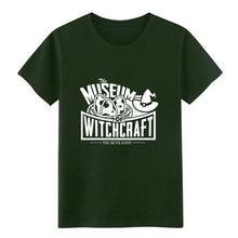 Load image into Gallery viewer, Men's Museum of Witchcraft t shirt personalized Short Sleeve O Neck Leisure Sunlight Comical summer Letters shirt
