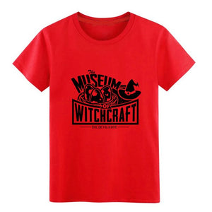 Men's Museum of Witchcraft t shirt personalized Short Sleeve O Neck Leisure Sunlight Comical summer Letters shirt