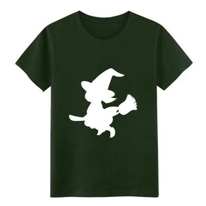 Men's Witch, Witchery, Halloween, Witchcraft, t shirt create cotton O-Neck Unisex Anti-Wrinkle Building Kawaii shirt