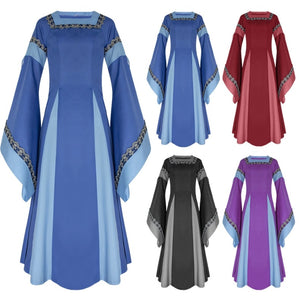 Women Halloween Cosplay Dress Costume Medieval Dress Renaissance Adult Witch Gothic Queen Of Vampire Fancy Dress Girls Outfit