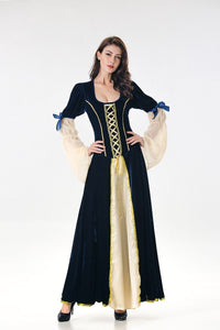 Halloween Costume Adult Cosplay Magic Witch Dress Up Witch Dress Long Dress Court Queen Costume