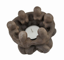 Load image into Gallery viewer, Goddess Circle Ceramic Tea Light Candle Holder Pagan Wiccan