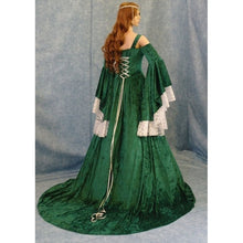 Load image into Gallery viewer, Women's Medieval Dress Renaissance Hooded Dress Costume Deluxe Velvet Halloween Elven Ghost Witch Victorian Cosplay Costume Cloa