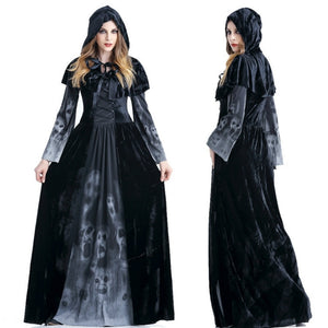 Vampire Costumes Halloween Party Cosplay Queen Dress Gothic Witch Vampire Death Costumes for Women Fancy Dress