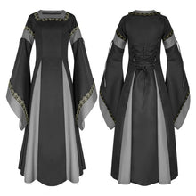 Load image into Gallery viewer, Women Halloween Cosplay Dress Costume Medieval Dress Renaissance Adult Witch Gothic Queen Of Vampire Fancy Dress Girls Outfit