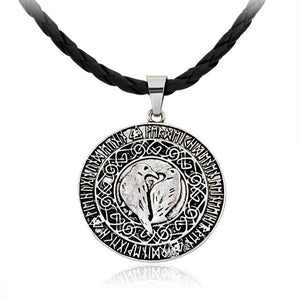1pcs Nordic Viking Wolf Men Necklace Star Amulet Slavic Talisman Pagan Pendant Necklace Odin 's Symbol Viking Rune Jewelry