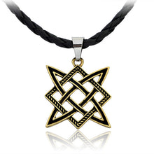 Load image into Gallery viewer, 1pcs Nordic Viking Wolf Men Necklace Star Amulet Slavic Talisman Pagan Pendant Necklace Odin 's Symbol Viking Rune Jewelry