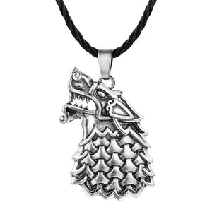 QIAMNI Punk Slavic Wolf Of Odin Scandinavian Pendant Necklace Pagan Amulet Nordic Viking Jewelry Friendship Birthday Gift Charm