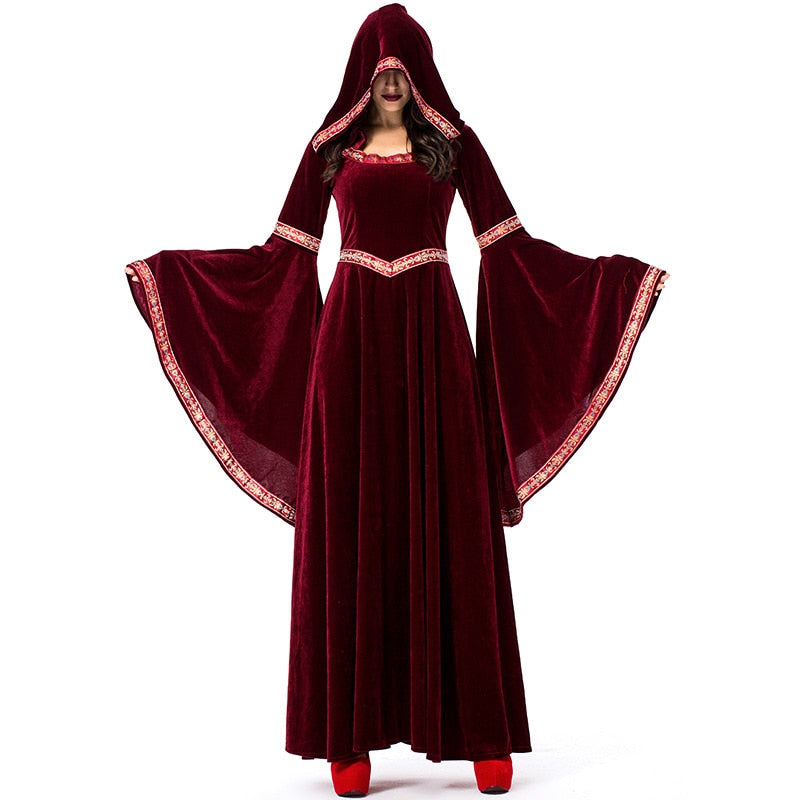 Adult Womans Medieval Sorceress Pagan Witch Halloween Costume