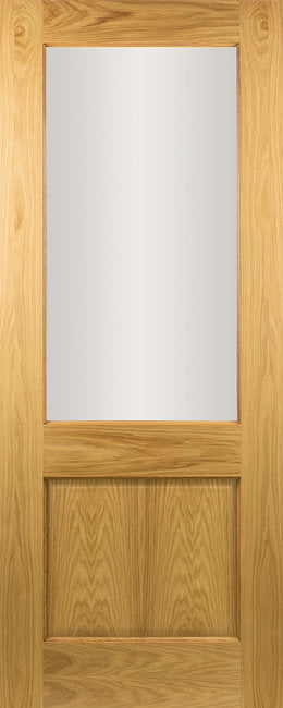 Seadec-Oak-Oak-Albany-Clear-2-Panel-Door
