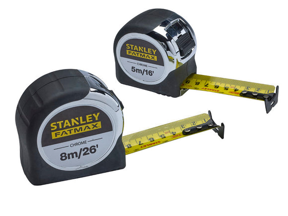 Stanley Fatmax Chrome Tape Twin Pack