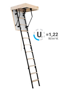 Oman Maxi Termo Attic Loft Ladder 1200 X 600 (56mm Thickness)