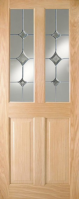 Indoors Addison Pf 4P Oak Door Gatsby Glass 80X32