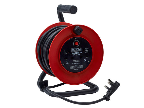 Faithfull 20m Cable Reel