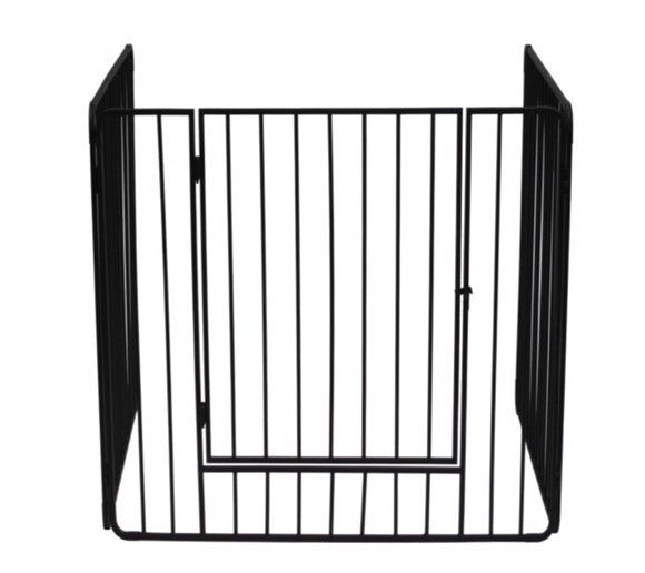 Stove Guard With Bars & Swing Door