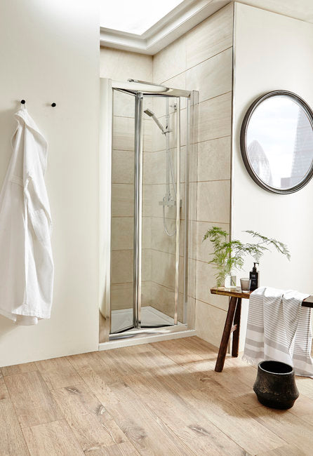 900 X 1850mm Bi-Fold Shower Door 6mm