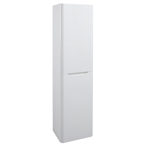 Bali White Gloss Wall Mounted Storage Unit. (Tall Boy)