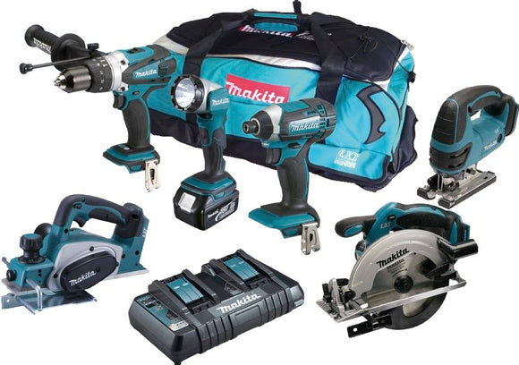 Makita DLX6067 18v 6 Piece Kit with 3x5.0ah Batteries