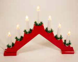 38cm Candle Bridge Red