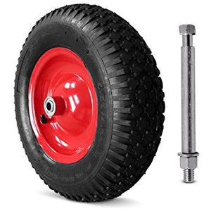 "Wheelbarrow 16"" Foam Spare Wheel With Axle & Bolts"