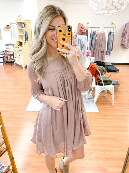 Talk About Mauve Dress
