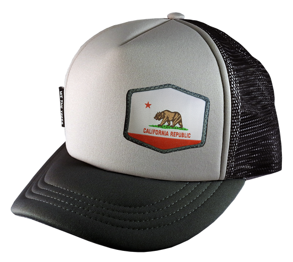 Gray Black Trucker Hat Large 58 cm Cali