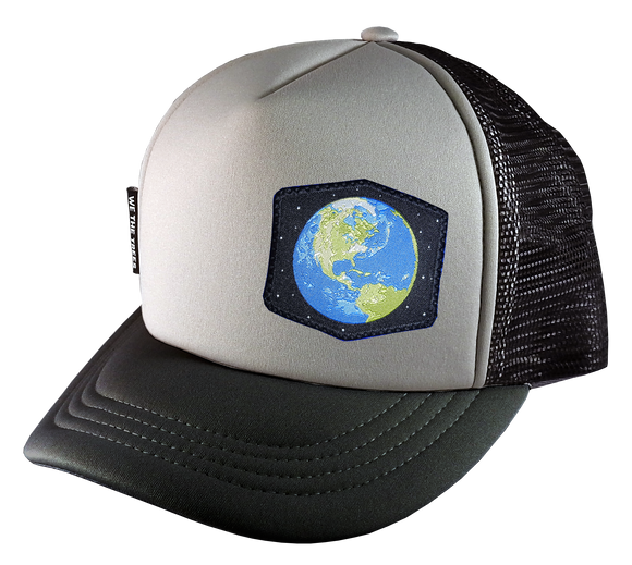 Gray Black Trucker Large 58 cm Earth