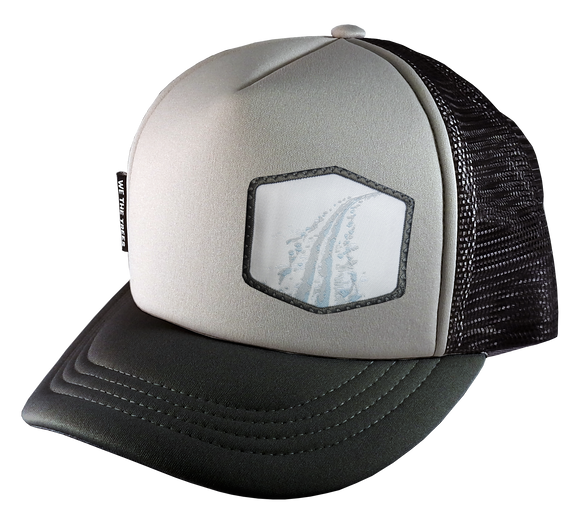 Gray Black Trucker Hat Large 58 cm Tracks