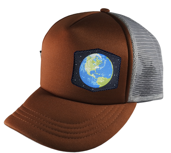 Brown Gray Trucker Hat Large 58 cm Earth