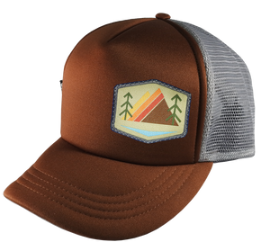 Brown Gray Trucker Hat large 58 cm Khaki Alpenglow