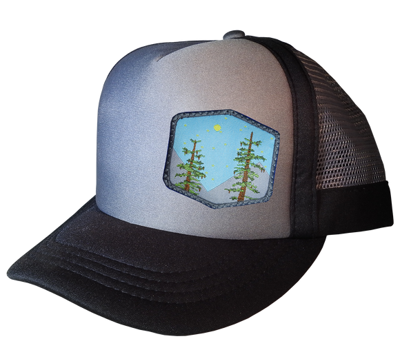 Dark Gray Choice AF Trucker 59 cm XL Trees