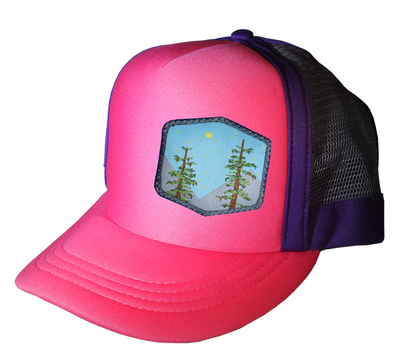 Megenta Purple Choice AF Trucker Hat 57 cm Large Trees