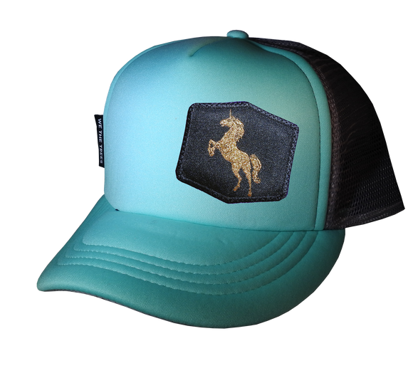 Mint Trucker hat 58 cm Large Golden Unicorn