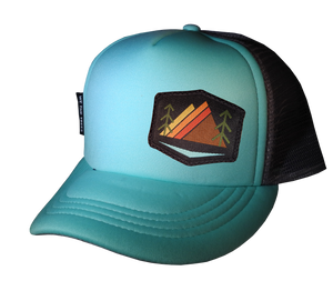 Mint Gray Trucker Hat 58 cm Large Alpenglow
