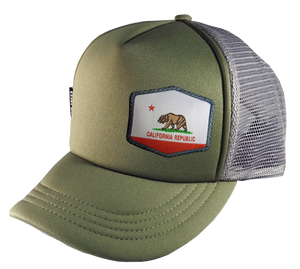 Olive Gray Trucker Hat Large 58 cm Cali