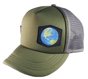 Olive Gray Trucker Hat Large 58 cm Earth