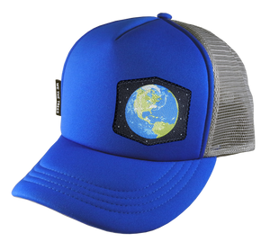 Royal Blue Trucker Hat 54 cm Earth Youth/ Small Adult