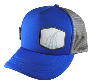 Royal Blue Trucker Hat 58 cm Large Tracks