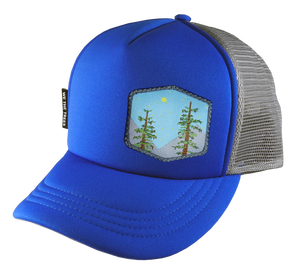 Royal Blue Trucker Hat 54 cm Small Trees