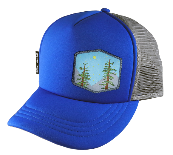 Royal Blue Trucker Hat 58 cm Large Trees