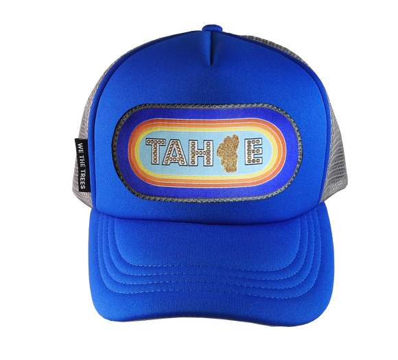 Royal Blue Trucker Hat 54 cm Small Tahoe Retro