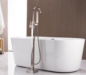 Floor Mounted Bath Tub With Handheld Shower