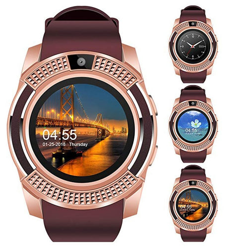 CARBON SMART WATCH WITH SIM CARD SLOT IN ROSE GOLD