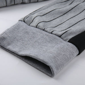 PIN STRIPED TRACKSUIT IN GREY