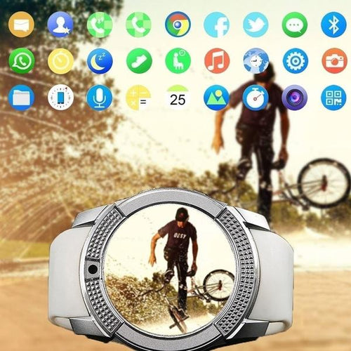 CARBON SMART WATCH WITH SIM CARD SLOT IN WHITE